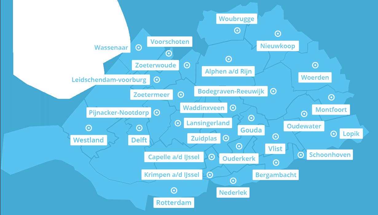 Werkgebied kaart