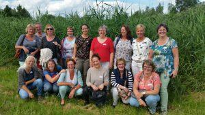 Groepsfoto teamuitje Medewerkers palliatieve zorg PlusZorg